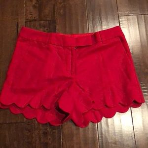 J Crew Scalloped Shorts NWT